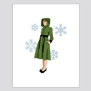 Vintage Girl Coat Posters