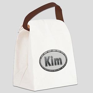 Kim Metal Oval Canvas Lunch Bag