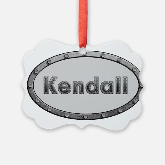 Kendall Metal Oval Ornament