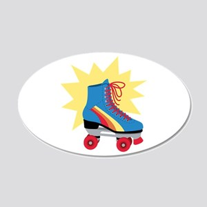 Retro Roller Skate Wall Decal
