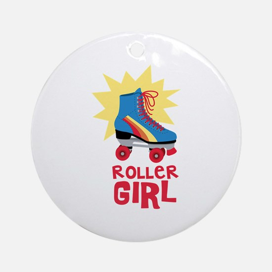 Roller Girl Ornament (Round)