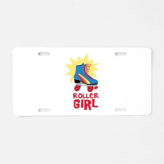 Roller Girl Aluminum License Plate