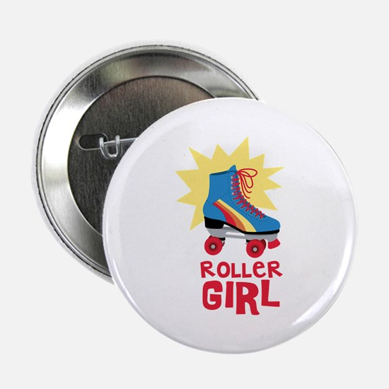 "Roller Girl 2.25"" Button"
