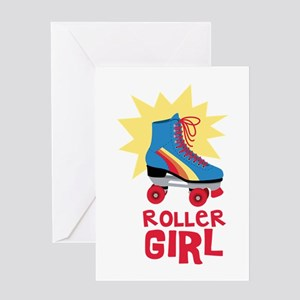 Roller Girl Greeting Cards