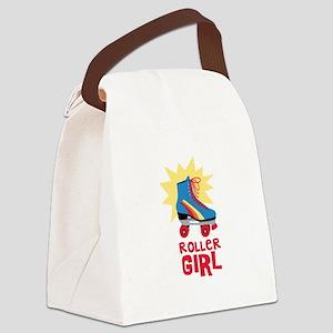 Roller Girl Canvas Lunch Bag
