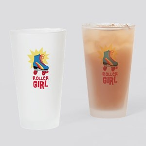 Roller Girl Drinking Glass