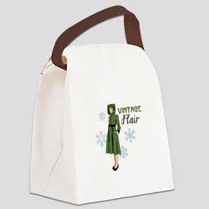 Vintage Flair Canvas Lunch Bag