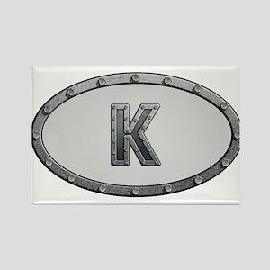 K Metal Oval Magnets