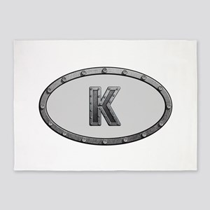 K Metal Oval 5'x7'Area Rug