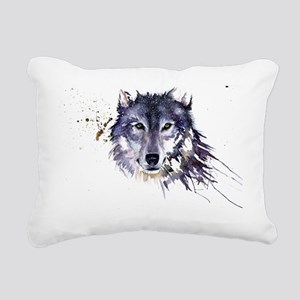 Snow Wolf Rectangular Canvas Pillow