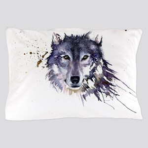 Snow Wolf Pillow Case