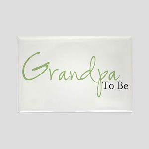 Grandpa To Be (Green Script) Rectangle Magnet
