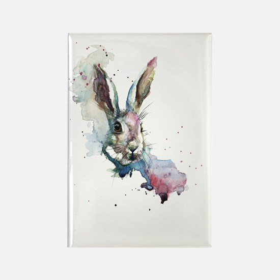 March Hare Rectangle Magnet