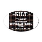 Kilt-Dont Call It A Skirt Wall Decal