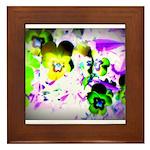 Violets Framed Tile