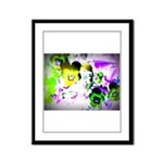 Violets Framed Panel Print