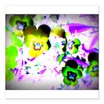 Violets Square Car Magnet 3