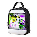 Violets Neoprene Lunch Bag
