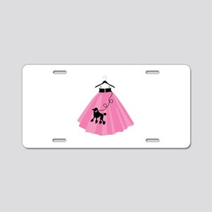 Poodle Skirt Aluminum License Plate