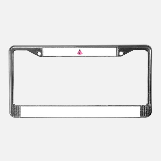 Poodle Skirt License Plate Frame