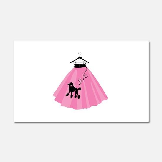 Poodle Skirt Car Magnet 20 x 12