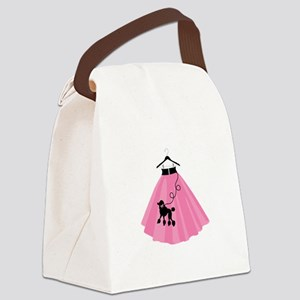 Poodle Skirt Canvas Lunch Bag