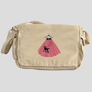 Poodle Skirt Messenger Bag
