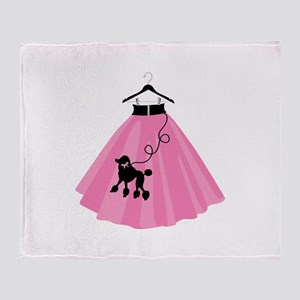 Poodle Skirt Throw Blanket