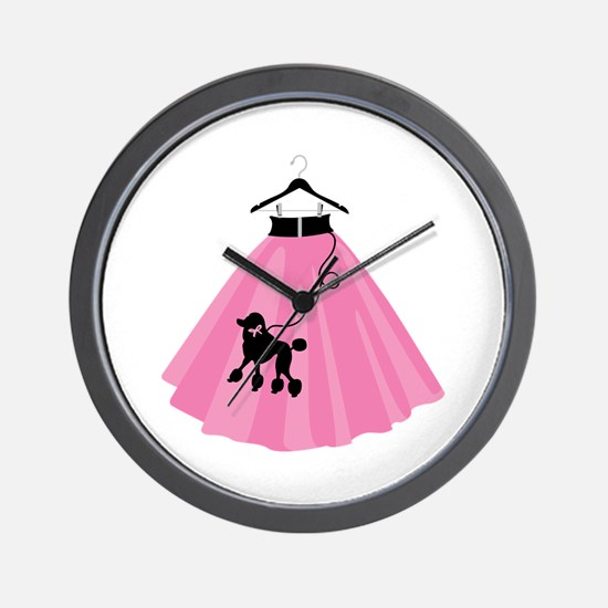 Poodle Skirt Wall Clock