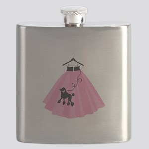 Poodle Skirt Flask