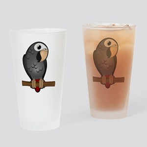 Cute Timneh African Grey Drinking Glass