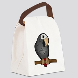 Cute Timneh African Grey Canvas Lunch Bag