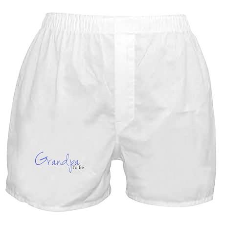 Grandpa To Be (Blue Script) Boxer Shorts