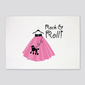 Rock and Roll Poodle Skirt 5'x7'Area Rug