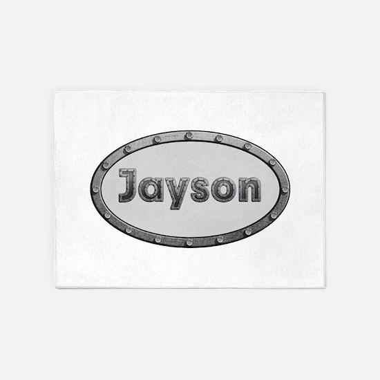 Jayson Metal Oval 5'x7'Area Rug