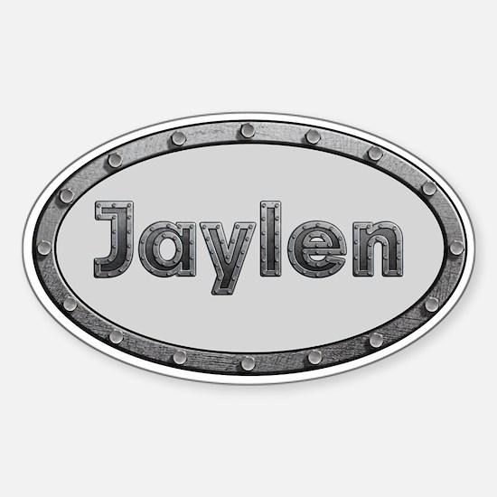 Jaylen Metal Oval Decal
