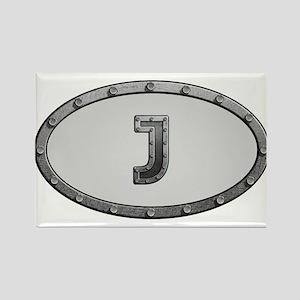 J Metal Oval Magnets