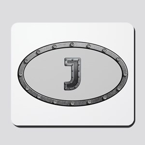 J Metal Oval Mousepad
