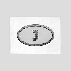 J Metal Oval 5'x7'Area Rug