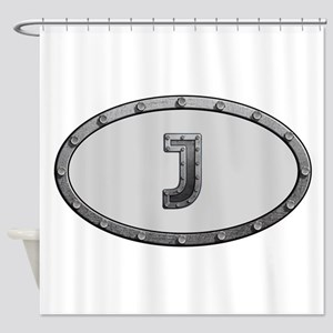 J Metal Oval Shower Curtain