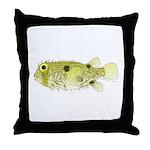 Striped Burrfish Porcupinefish fish Throw Pillow