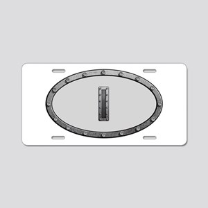 I Metal Oval Aluminum License Plate