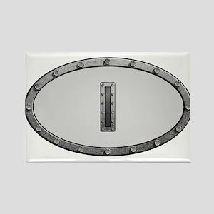 I Metal Oval Magnets