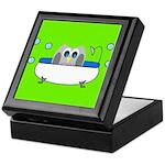 Owl In Tub (Green) Keepsake Box