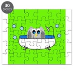Owl In Tub (Green) Puzzle