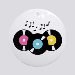 Music Records Notes Ornament (Round)