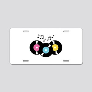 Music Records Notes Aluminum License Plate