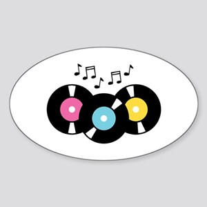 Music Records Notes Sticker