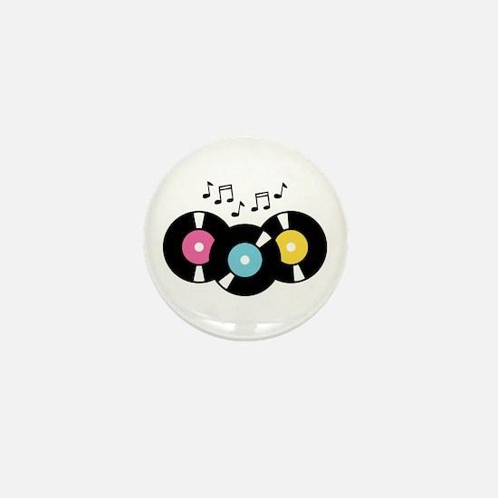 Music Records Notes Mini Button