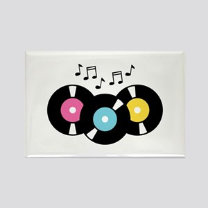 Music Records Notes Magnets
